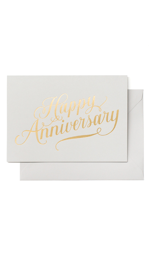 【シュガーペーパー】happy Anninersary calligraphy,gray