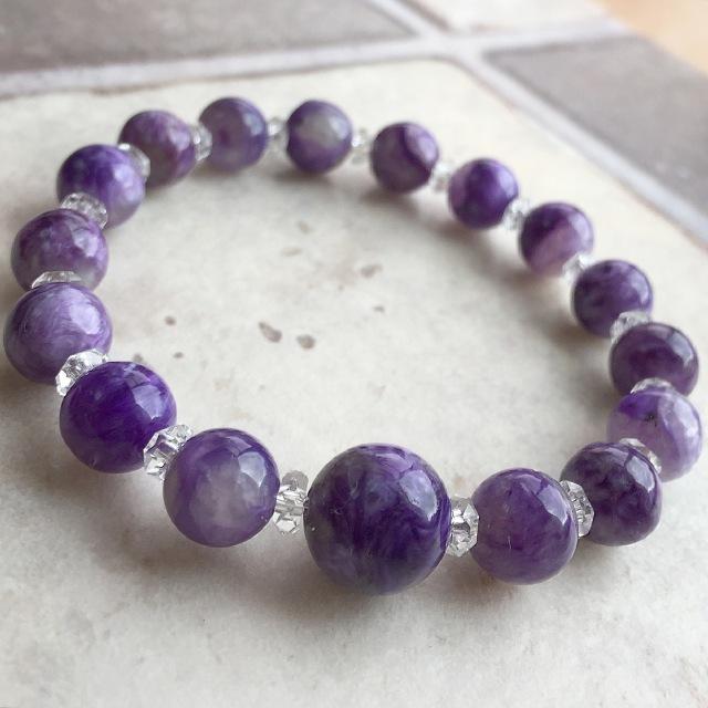『気品の紫』 チャロアイトのブレスレット