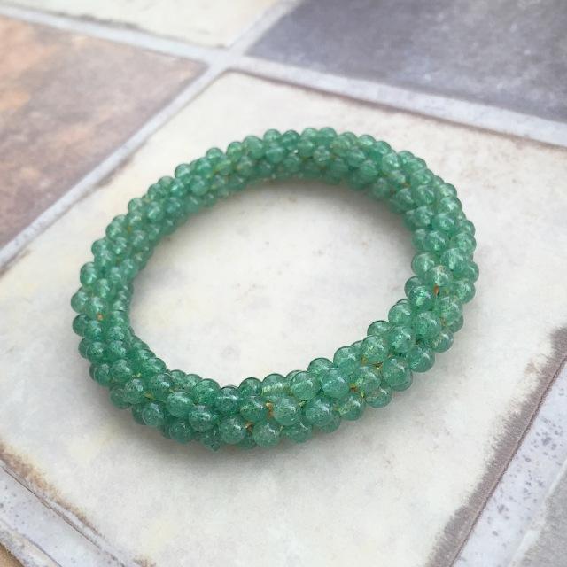 『穏やかな癒しの緑』 アベンチュリンのクロッシェ