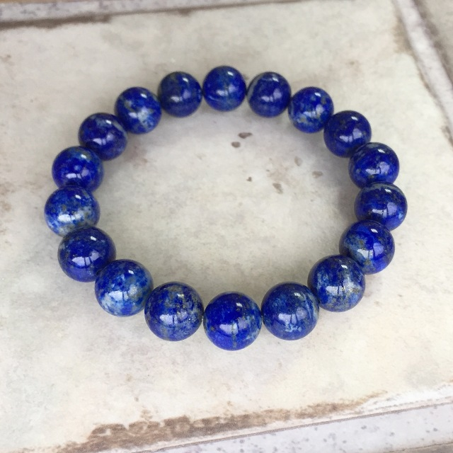 『青の輝き』 ラピスラズリのブレスレット