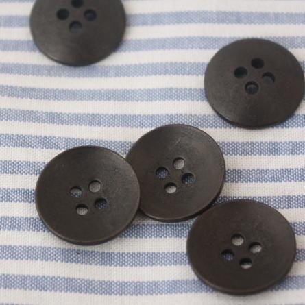 メタルボタン18mm-プレーンお椀型(茶褐色)