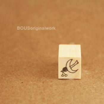 BOUSスタンプ-小鳥と木の実