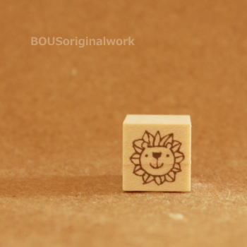 BOUSスタンプ-小さなライオン。