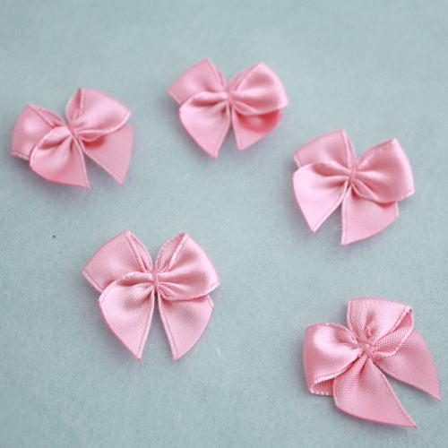 モチーフ-ミニリボン5個セット(ピンク)