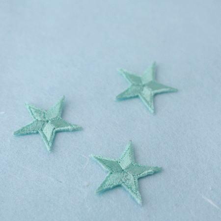 アップリケ-小サイズの星・みどり(1枚)