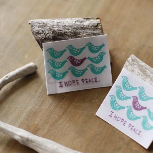 ばら刺繍タグ‐BOUSとり(青緑)