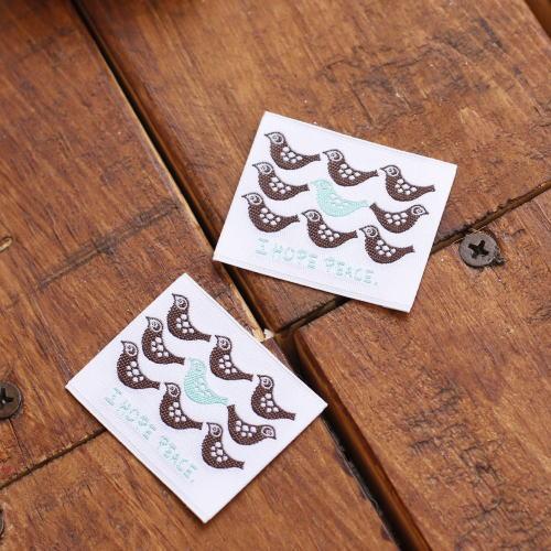 ばら刺繍タグ‐BOUSとり(茶)