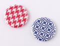 【缶バッジ】レトロな幾何学模様
