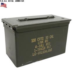 実物 米軍 50 CAL AMMO CAN(アンモボックス) USED