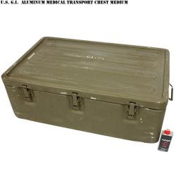実物 米軍ALUMINUM MEDICAL TRANSPORT チェスト Medium
