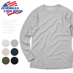 ☆複数点割引☆JEMORGAN ジェーイーモーガン J7003-526 THERMAL L/S CREW REGULAR FIT