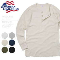 ☆複数点割引☆JEMORGAN ジェーイーモーガン J7105-526 THERMAL L/S HENRY REGULAR FIT