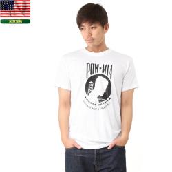 実物 新品 米軍 POW MIA プリントTシャツ 表記MEDIUM