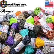 ATWOOD ROPE MFG. アトウッド・ロープ 7Strand 550 パラコード 100フィート 67色 (パラシュートコード)カラー選択#1