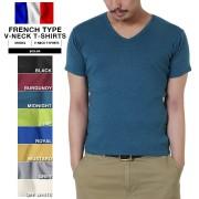 新品 フランス軍タイプ Vネック半袖Tシャツ 8色