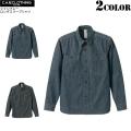 【メーカー取次】【キャンペーン対象外商品】C.A.B.CLOTHING シャンブレー ロングスリーブシャツ 2色【1270】