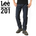 Lee リー AMERICAN STANDRD 201ストレートデニムジーンズ ワンウォッシュ(00)