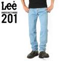 Lee リー AMERICAN STANDRD 201ストレートデニムジーンズ 淡色ブルー(90)