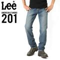 Lee リー AMERICAN STANDRD 201ストレートデニムジーンズ 濃色ブルー(94)