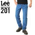 Lee リー AMERICAN STANDRD 201ストレートデニムジーンズ ブルー(97)
