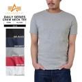 ALPHA アルファ 23250 S/S デイリーウエア クルーネックTシャツ5色