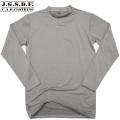 【クーポン対象外商品】C.A.B.CLOTHING J.G.S.D.F. 自衛隊 クルーネック長袖Tシャツ GRAY【2704】