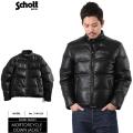 Schott ショット モーターサイクル レザーダウンジャケット BLACK×BLACK 【3141023】