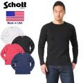 Schott ショット 3153067 ハニカム ワッフル ロングスリーブ Tシャツ MADE IN USA