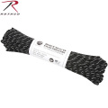 ROTHCO �?�� 550LB �ѥ饷�塼�ȥ����� 100�ե����� BLACK��W/3 REFLECTIVE TRACERS