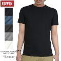 EDWIN エドウィン デイリーウェア 57183 ハニカムワッフル CREW NECK Tシャツ5色