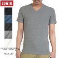 EDWIN エドウィン デイリーウェア 57184 ハニカムワッフル V-NECK Tシャツ5色