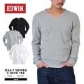 EDWIN エドウィン デイリーウェア 57307 ワッフル VネックTシャツ3色