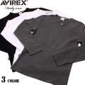 AVIREX アビレックス デイリーウエア長袖キーネックTシャツ