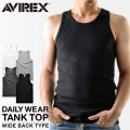 AVIREX アビレックス デイリーウエア タンクトップ ワイドバック 6143507