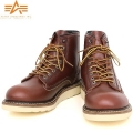 ALPHA アルファ AF1943 CLASSIC WORK BOOTS クラシックワークブーツ REDBROWN