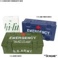 ☆創業祭☆20%OFF☆新品 U.S MILITARY EMERGENCY ボックス(救急箱) 2色