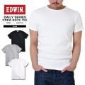 EDWIN エドウィン デイリーウェア ET5019 RIB クルーネック半袖Tシャツ3色