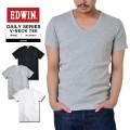 ☆創業祭☆20%OFF☆EDWIN エドウィン デイリーウェア ET5020 RIB Vネック半袖Tシャツ3色