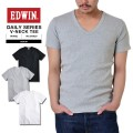 EDWIN エドウィン デイリーウェア ET5020 RIB Vネック半袖Tシャツ3色