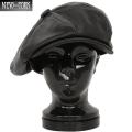 New York Hat ニューヨークハットWIP別注 L9080 LAMBA レザービッグアップル ブラック