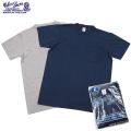 Velva Sheen ベルバシーン 2PAC ポケット付きCrew NecK Tシャツ NAVY+ H.GREY