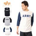 ALPHA ����ե� TC1077 3/4����� ARMY T�����
