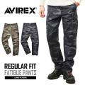 AVIREX ���ӥ�å��� 6166111 FATIGUE PANTS �ե��ƥ����� �������ѥ�� CAMOUFLAGE �쥮��顼�ե��å�