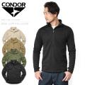 CONDOR コンドル 603 BASE II グリッドフリース ジッププルオーバー