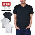 ☆創業祭☆20%OFF☆EDWIN エドウィン ET5037 COOL FLEX VネックTシャツ3色