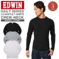 EDWIN エドウィン デイリーウェア ET5067 ワッフル クルーネックTシャツ 3色