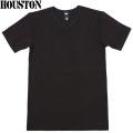 HOUSTON ヒューストン デイリーウエア パックT-Shirt Vネック ブラック