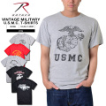 ROTHCO ロスコ VINTAGE MILITARY U.S.M.C.プリントTシャツ5タイプ