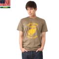 実物 新品 米軍 USMC プリントTシャツ ブラウン