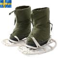 実物 スウェーデン軍スノーラケット付きスノーブーツ USED